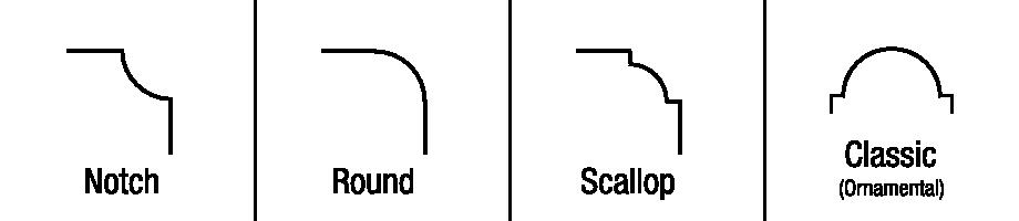 Notch, Round, Scallop, Classic (Ornamental)